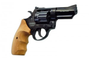 """ZBROIA. Револьвер флобера PROFI-3"""" (чёрный / дерево)"""