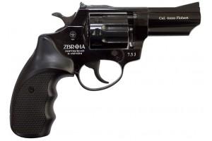 """ZBROIA. Револьвер флобера PROFI-3"""" (чёрный / пластик)"""