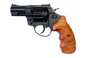 """Револьвер Флобера ATAK Arms Stalker 2.5"""" (барабан: силумин / черный / пластик под дерево)"""